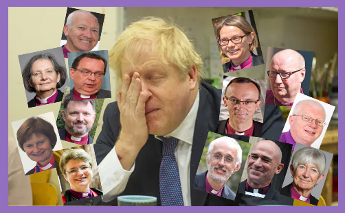 Boris Johnson Bishops Zoom