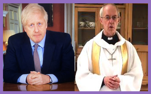 PM Boris Johnson Archbishop Justin Welby