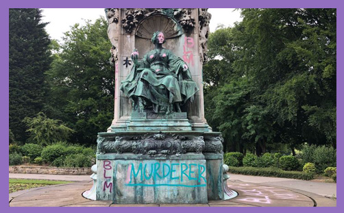Queen Victoria statue vandalised