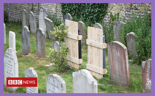 racist gravestone gravestones covered offensive