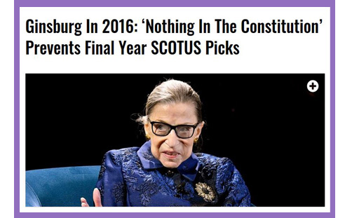 Ginsburg trump supreme court justice nominee