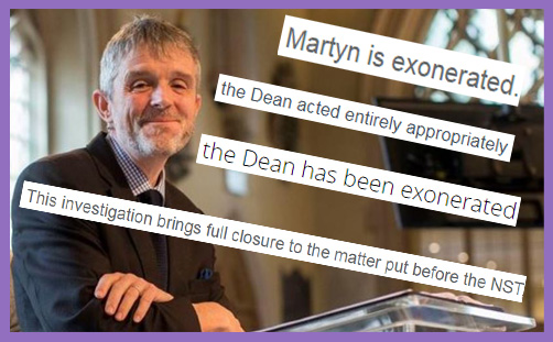 martyn percy dean christ church oxford exonorated safeguarding allegations