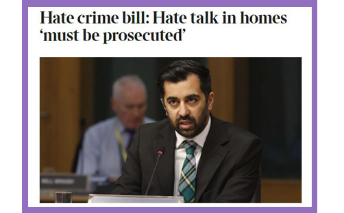 Scotland SNP hate crime bill