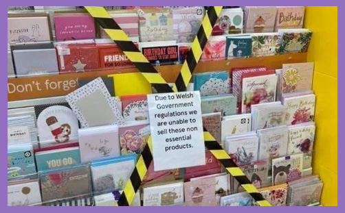 wales lockdown greeting cards freedom of religion churches closed