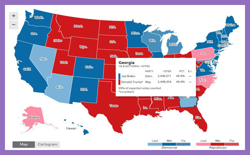 US Presidential Election map