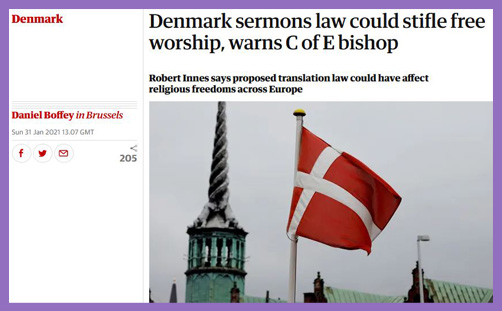 denmark sermons law anglican extremism