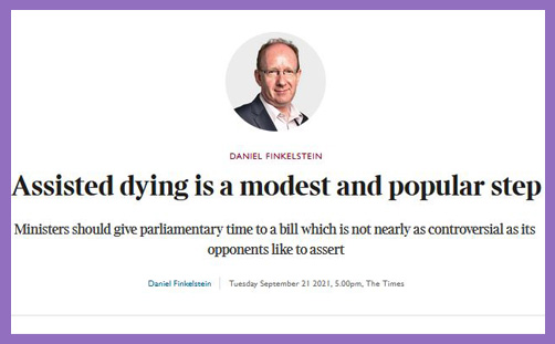 Daniel Finkelstein Times assisted dying
