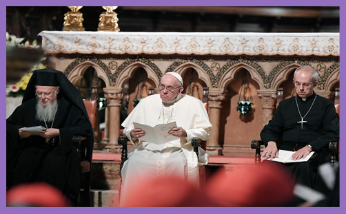 pope francis patriarch bartholomew archbishop welby environment creation cop26